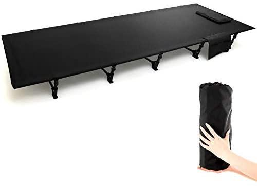 GLNG キャンプコット アウトドア ベッド 簡易コット 超軽量 折りたたみベッド 枕と収納バッグ付き キャンピングベッド コンパクト コット