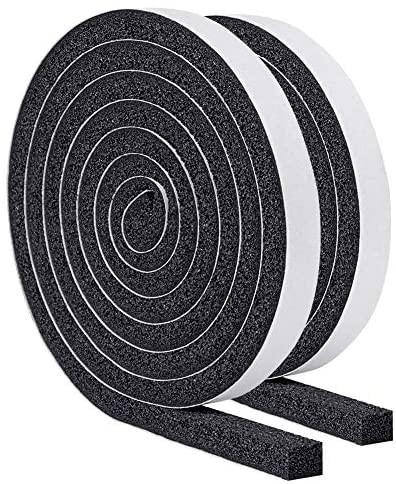 YoTache隙間テープ パッキンテープ 防風 防音テープ 気密防水パッキン 雨戸 サッシなどのすきまを防ぎ12mm (幅) x 12mm (厚さ) x 2m (長