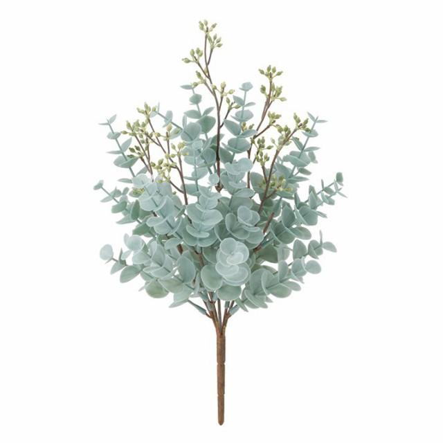 フロストミックスユーカリブッシュ×5(プラスチック) ブルーグリーン フェイク グリーン 人工観葉植物 造花 光触媒 CT触媒[G-L]