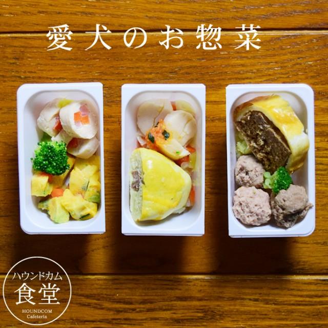 【2月限定】愛犬用お惣菜 お肉と野菜の彩り3食セット【ハウンドカム食堂】犬用惣菜 ドッグフード トッピング