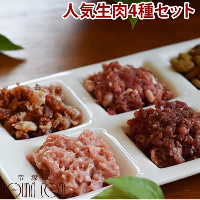 愛犬用 【お肉の日限定】人気生肉4種セット 高齢犬 シニア