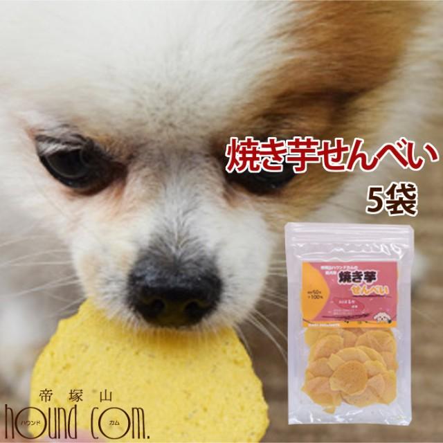 犬 おやつ 無添加 国産手作り 焼き芋 さつまいも 安心の自然のおやつ 保存料不使用 紅はるか おいも 愛犬用 焼き芋せんべい 5袋セット
