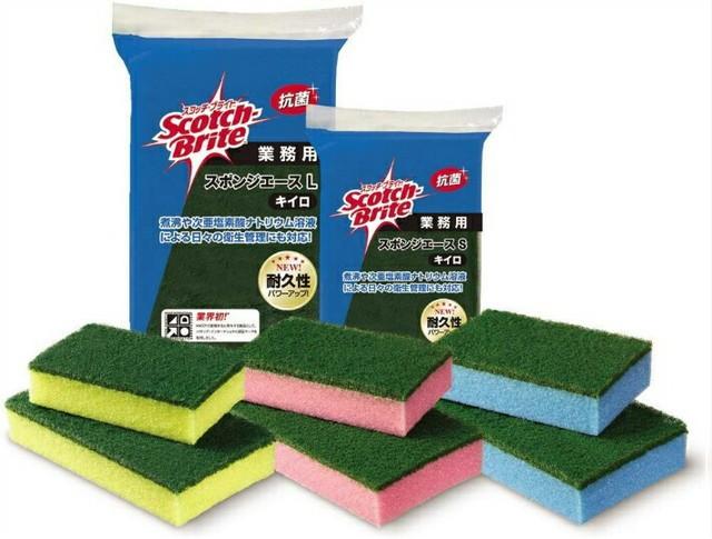 スコッチブライト スポンジエース Lサイズ 10個入 スポンジ 食器洗い 洗浄 業務用 飲食店向け 家庭用