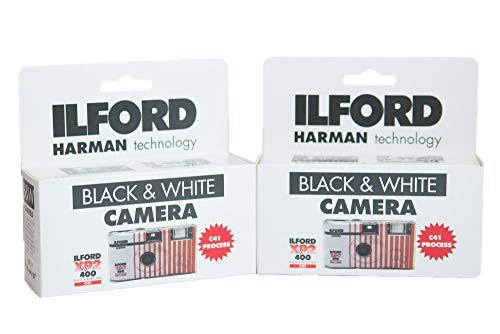 『全国送料無料』ILFORD レンズ付き白黒フィルム XP2 Super ISO400 27枚撮り(2台セット)