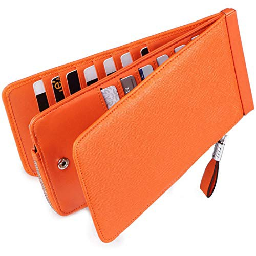 『全国送料無料』Huztencor 長財布 薄型 二つ折り メンズ レディース 磁気防止 カードケース カード26枚 収納 大容量 財布 人気 小銭入れ