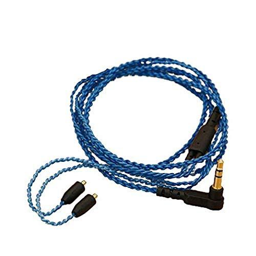 『全国送料無料』GAOHOU MMCXイヤホンケーブルブルーDIY XBA-H2 / HA-FX850 / UE900 / Shure SE215 / SE315用
