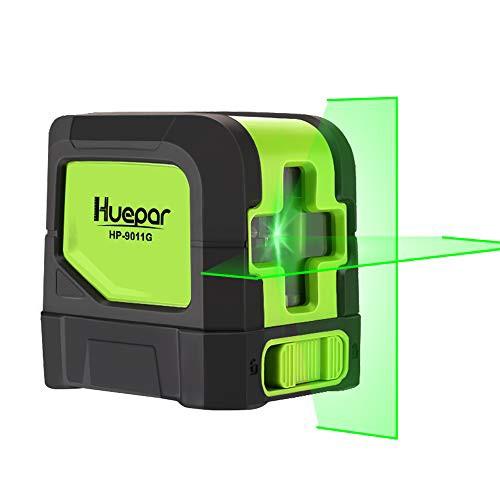 『全国送料無料』Huepar 2ライン グリーン レーザー墨出し器 クロスラインレーザー 緑色 レーザー 自動補正 傾斜モード 高輝度 ライン出