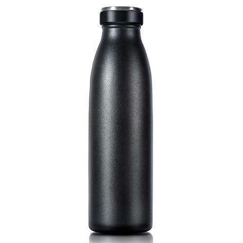 『全国送料無料』Love-KANKEI 水筒 マグボトル ステンレスボトル 真空断熱 保熱保冷 牛乳瓶 直飲み 500ML ブラック