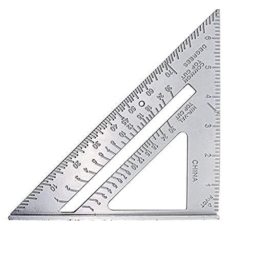『全国送料無料』J T 三角定規 ダイキャスト 三角スクエアルーラー 90度 45度 プロッター測定 カーペンター専用 18*18*25cm JT-29-034