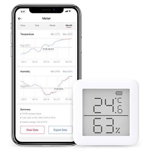 『全国送料無料』SwitchBot スイッチボット デジタル 温湿度計 スマート家電 ? 高精度 スイス製センサースマホで温度湿度管理 アラーム付