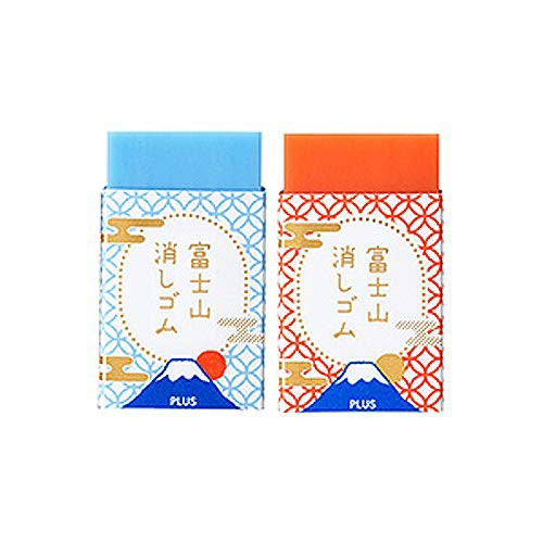 『全国送料無料』【限定】プラス エアイン 富士山消しゴム 赤青 2個セット
