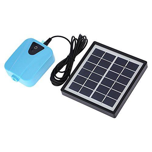 『全国送料無料』Galapara ソーラーポンプ ソーラー充電式エアポンプ 酸素ポンプ 池の通気装置 ソーラー充電可能 1つのエアストーン水族