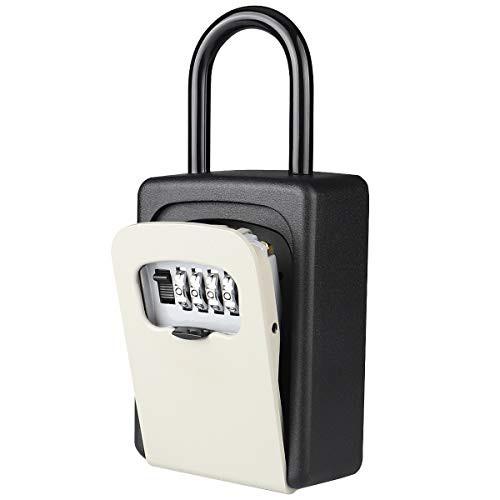 『全国送料無料』Akayi キーボックス 鍵収納 4桁ダイヤル 壁掛け鍵 南京錠式 防犯 盗難防止 車用鍵ボックス