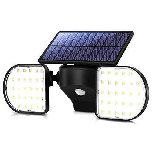 『全国送料無料』【2020最新昇級版】 OUSFOT ソーラーライト センサーライト 2灯式 ガーデンライト 高輝度 56LED 屋外 IP65防水 自動点灯