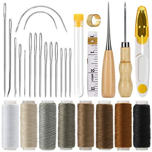 『全国送料無料』Cosyland レザークラフト 工具 道具セット 29点セット 裁縫工具 皮革工具 手 ステッチンググルーバー DIY 針 手作り 革