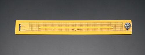 エスコ(ESCO) 400mm セーフティーカッター定規 EA720Y-1