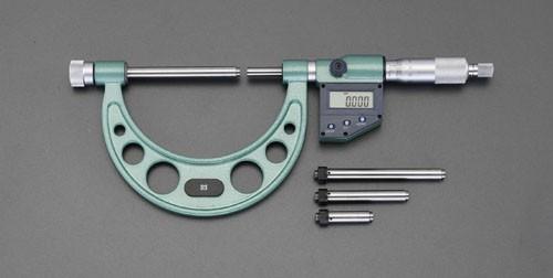 エスコ(ESCO) 100-200mm マイクロメーター(デジタル/替アンビル式) EA725EH-34