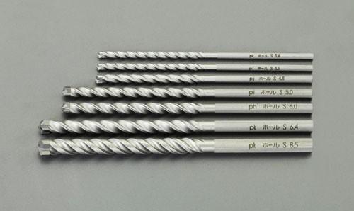 エスコ(ESCO) 3.4-8.5mm 7本組コンクリート用振動ドリル(固定タイプ EA811AE