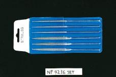 エスコ(ESCO) 140mm ダイヤモンド鑢(半丸丸6本組/粗中細) EA826VJ-10