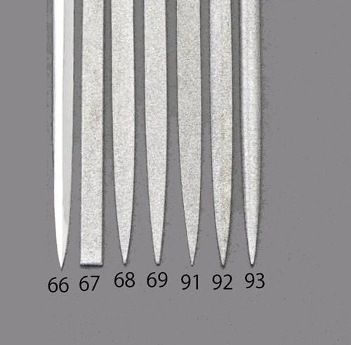 エスコ(ESCO) 140mm/#140 ダイヤモンドニードル鑢(刀刃) EA826VJ-91