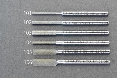 エスコ(ESCO) φ2.3x50mm ダイヤモンド鑢(丸ショート/#140) EA826VM-102