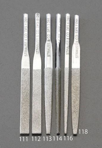 エスコ(ESCO) 2.6x85mm ダイヤモンド鑢(四角ショート/#200) EA826VM-116