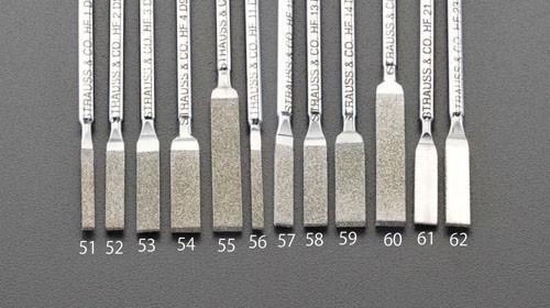 エスコ(ESCO) 5.2x1.2x50mm ダイヤモンド鑢(平ショート/#200) EA826VM-54