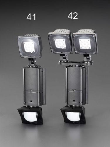 エスコ(ESCO) AC100V/31WLEDセンサーライト(調光タイプ/2灯) EA864C-42