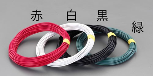 エスコ(ESCO) 2.0mmx50m IV電線(単線/白) EA940AT-552