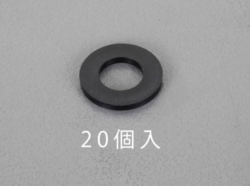 エスコ(ESCO) M3/3.2x7.0x0.5mm 平ワッシャー(ナイロン製/黒/20枚 EA949ZB-3