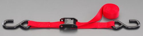 エスコ(ESCO) 25mmx2.0m 荷締ストラップ(赤) EA982BA-33
