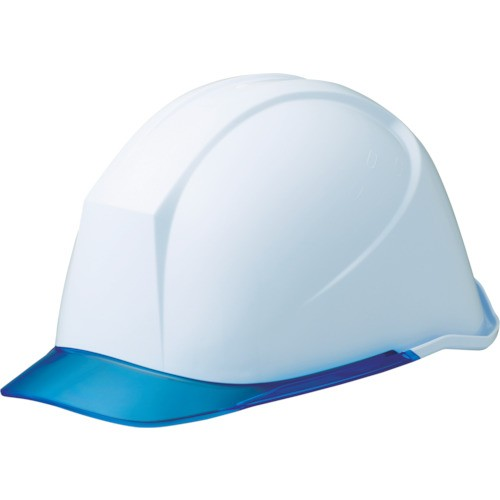 ミドリ安全 女性用ヘルメット 通気孔なし ホワイト/ブルー LSC-11PCL-W/BL