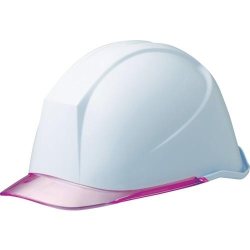 ミドリ安全 女性用ヘルメット 通気孔なし ホワイト/ピンク LSC-11PCL-W/PK