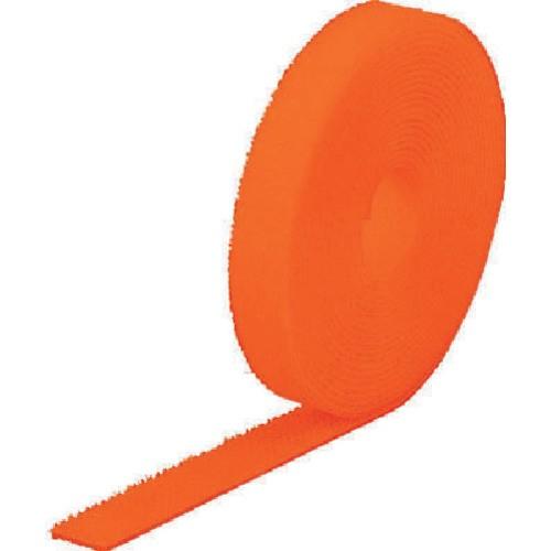 TRUSCO(トラスコ) マジック結束テープ 両面 蛍光オレンジ 20mm×5m MKT-2050-LOR