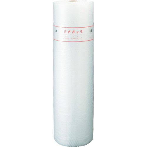 【直送】【代引不可】酒井化学 ポリエチレン製 気泡緩衝材 「ミナパック」400SS×1200×42m巻 MP-400SS