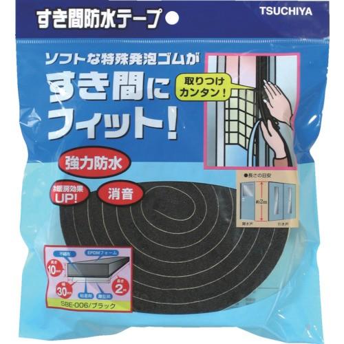 槌屋 すき間防水テープ ブラック 10mmX30mmX2m SBE-006