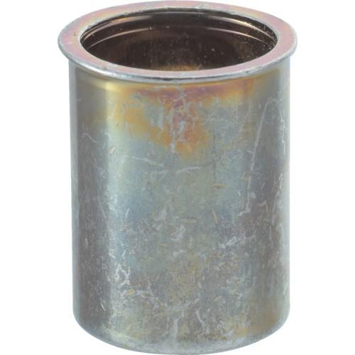TRUSCO(トラスコ) クリンプナット 薄頭 M6板厚1.0〜2.5 スチール 箱入 TBNF-6M25S-C