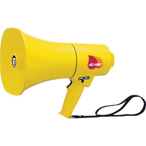 ノボル電機 レイニーメガホン 15W 防水仕様 ホイッスル音付(電池別売) TS-714