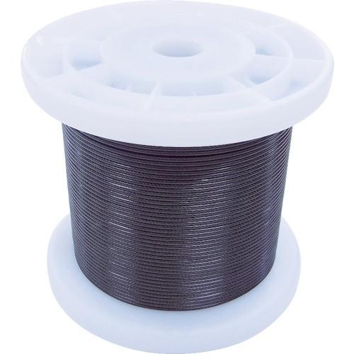 ニッサチェイン 黒コーティングワイヤロープ 1.2mm×100m 1巻 TSY12V-BK
