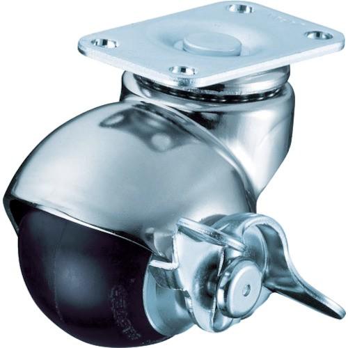 ハンマーキャスター ボールタイプキャスター 自在ストッパー付ゴム車 40mm 40515P-R40-BAR01