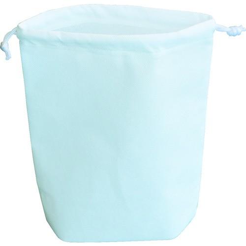 TRUSCO(トラスコ) 不織布巾着袋 A4サイズ マチあり ホワイト 10枚入 1袋 HSA4-10-W