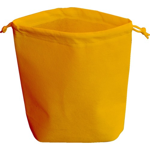 TRUSCO(トラスコ) 不織布巾着袋 B5サイズ マチあり オレンジ 10枚入 1袋 HSB5-10-OR