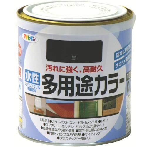 アサヒペン 水性多用途カラー 0.7L 黒 460929