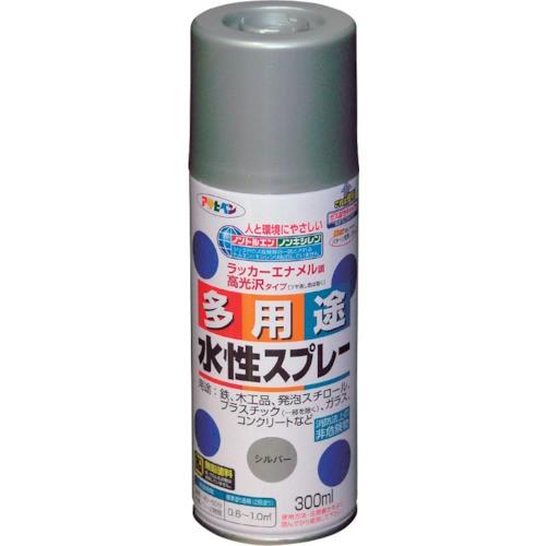 アサヒペン 水性多用途スプレー300ML シルバー 565358