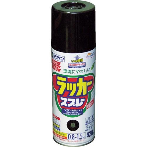 アサヒペン アスペンラッカースプレー 420ml 黒 568526