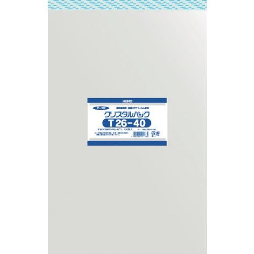 HEIKO(ヘイコー) OPP袋 テープ付き クリスタルパック テープ付 6741100 T26-40