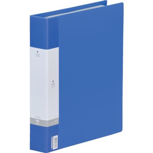 LIHIT(リヒト) 名刺帳 ポケット交換タイプ 800名 青 6冊 G8803-8