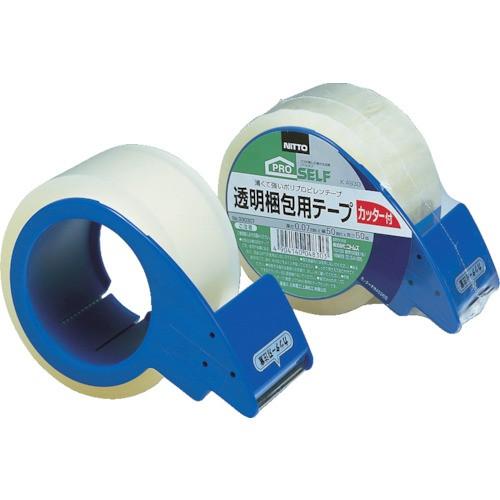 ニトムズ 透明梱包テープ カッター付 50mmX50m J6050