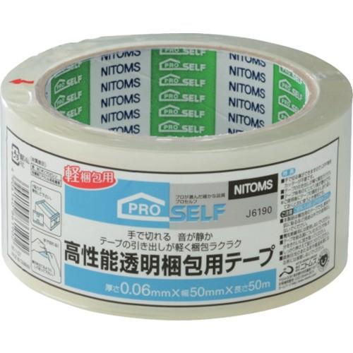 ニトムズ 高性能透明梱包テープ 50mmX50m J6190