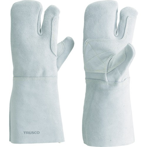 TRUSCO(トラスコ) ケブラー糸使用溶接手袋 3本指 裏綿付 KEVY-T3